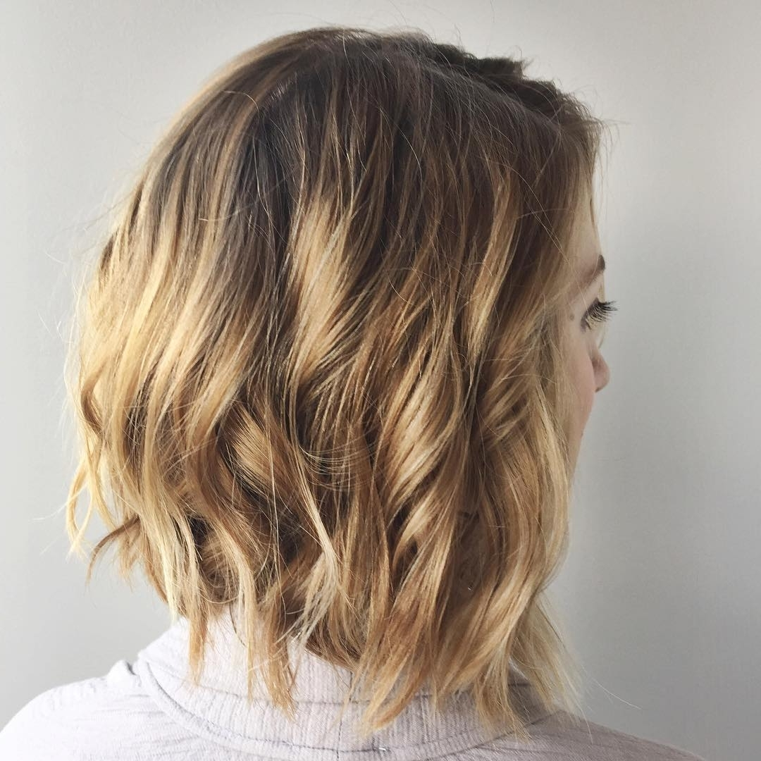 30 Chic Everyday Hairstyles For Shoulder Length Hair: Medium Intended For Most Popular Curly Caramel Blonde Bob Hairstyles (View 6 of 20)