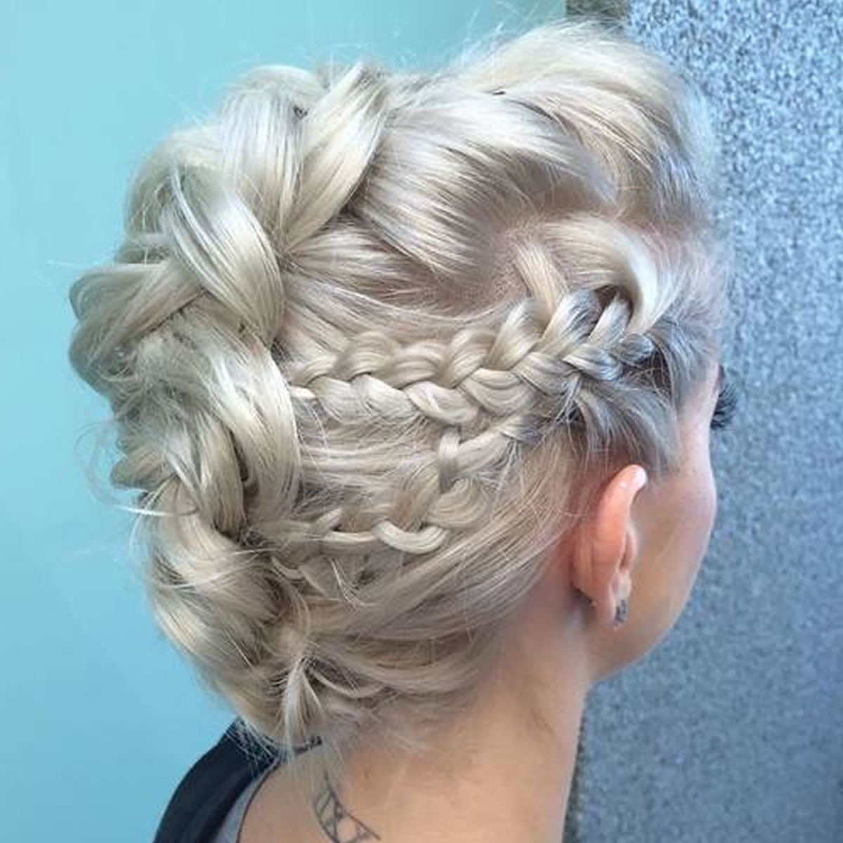 30 Glamorous Braided Mohawk Hairstyles For Girls And Women – Page 5 Intended For Trendy Platinum Braided Updo Blonde Hairstyles (View 5 of 20)