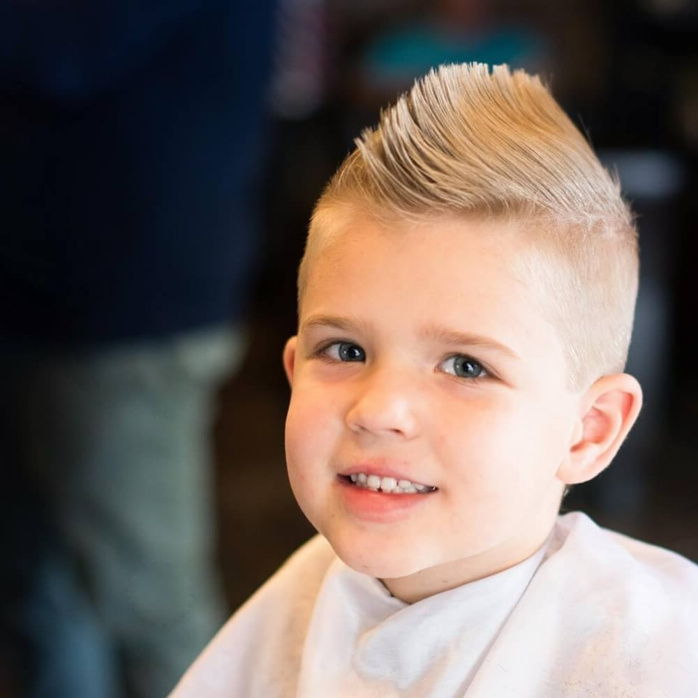 31 Cute Boys Haircuts 2018: Fades, Pomps, Lines & More Throughout Famous Spiked Blonde Mohawk Hairstyles (View 3 of 20)