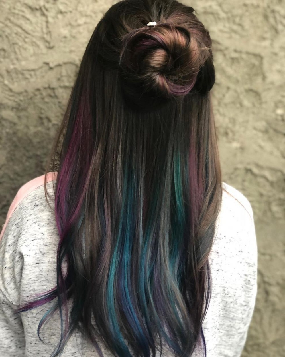 33 Cutest Peekaboo Highlights You'll Ever See In 2018 With Most Up To Date High Braided Pony Hairstyles With Peek A Boo Bangs (View 5 of 20)