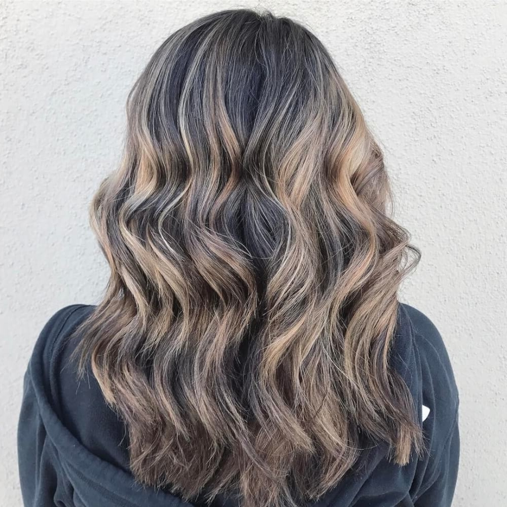 34 Light Brown Hair Colors That Are Blowing Up In 2018 With Regard To Most Up To Date Dark Brown Hair Hairstyles With Silver Blonde Highlights (View 2 of 20)