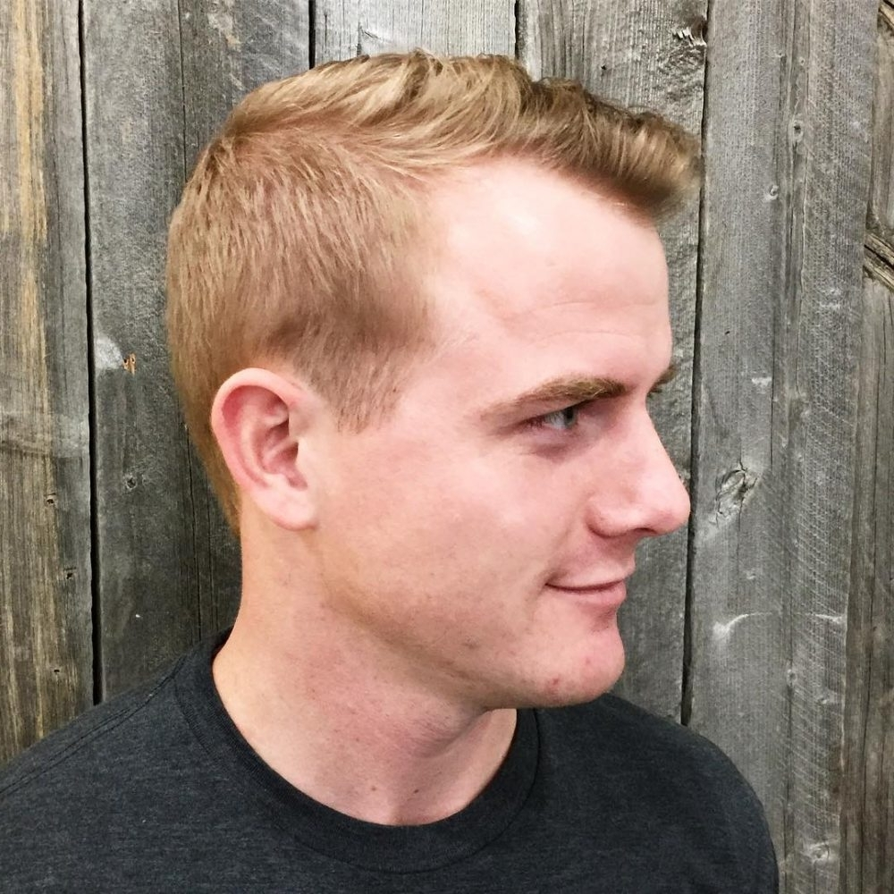 35 Best Hairstyles For Men With Thin Hair (add Volume In 2018) Regarding Most Up To Date Fade To White Blonde Hairstyles (View 17 of 20)