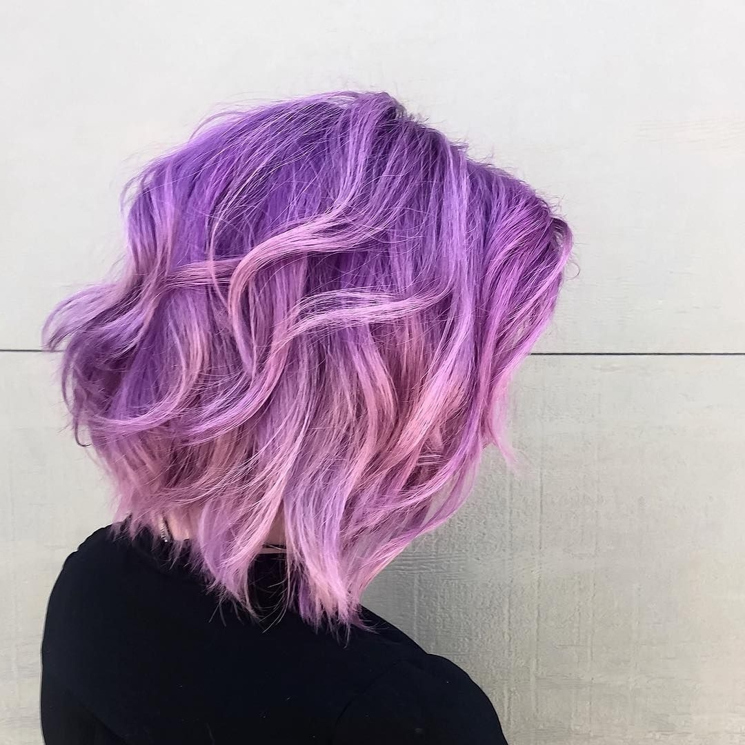 35 Brilliant Short Purple Hair Ideas — Too Stunning To Ignore Inside Most Current Blonde Bob Hairstyles With Lavender Tint (View 7 of 20)
