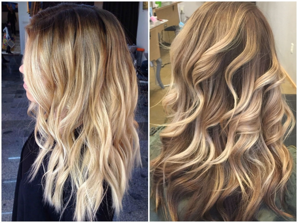 36 Blonde Balayage Hair Color Ideas With Caramel, Honey, Copper For Newest Dark Locks Blonde Hairstyles With Caramel Highlights (View 4 of 20)