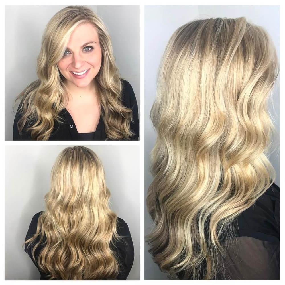 38 Top Blonde Highlights Of 2018 – Platinum, Ash, Dirty, Honey & Dark In Trendy Golden Bronze Blonde Hairstyles (View 6 of 20)