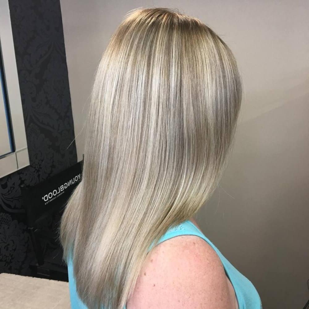 38 Top Blonde Highlights Of 2018 – Platinum, Ash, Dirty, Honey & Dark Regarding Best And Newest Dark Blonde Into White Hairstyles (View 5 of 20)