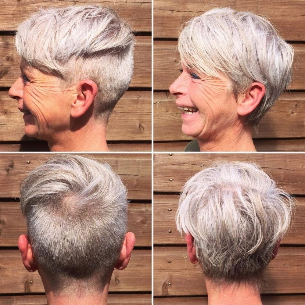 39 Classiest Short Hairstyles For Women Over 50 Of 2018 Within Fashionable Undercut Pixie Hairstyles (View 2 of 20)