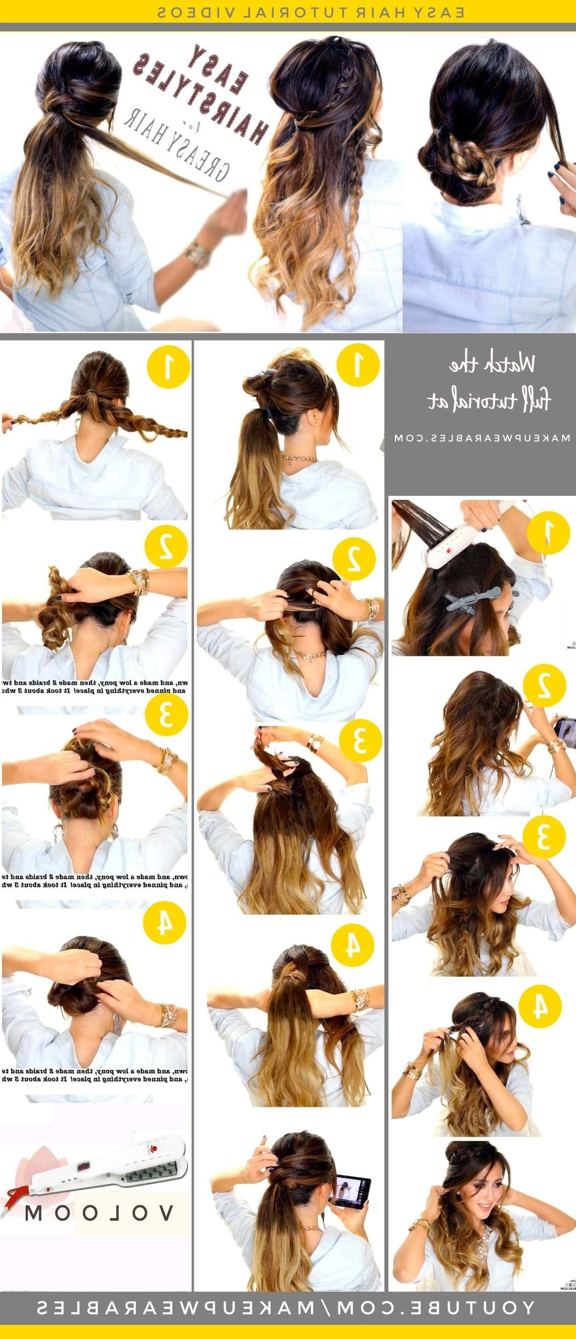 4 Easy #hairstyles For Greasy #hair (View 15 of 20)