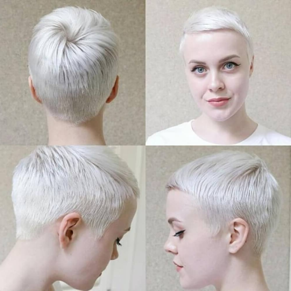 40 Cute Short Haircuts For Short Hair (updated For 2018) With Regard To Favorite Platinum Pixie Hairstyles (View 9 of 20)