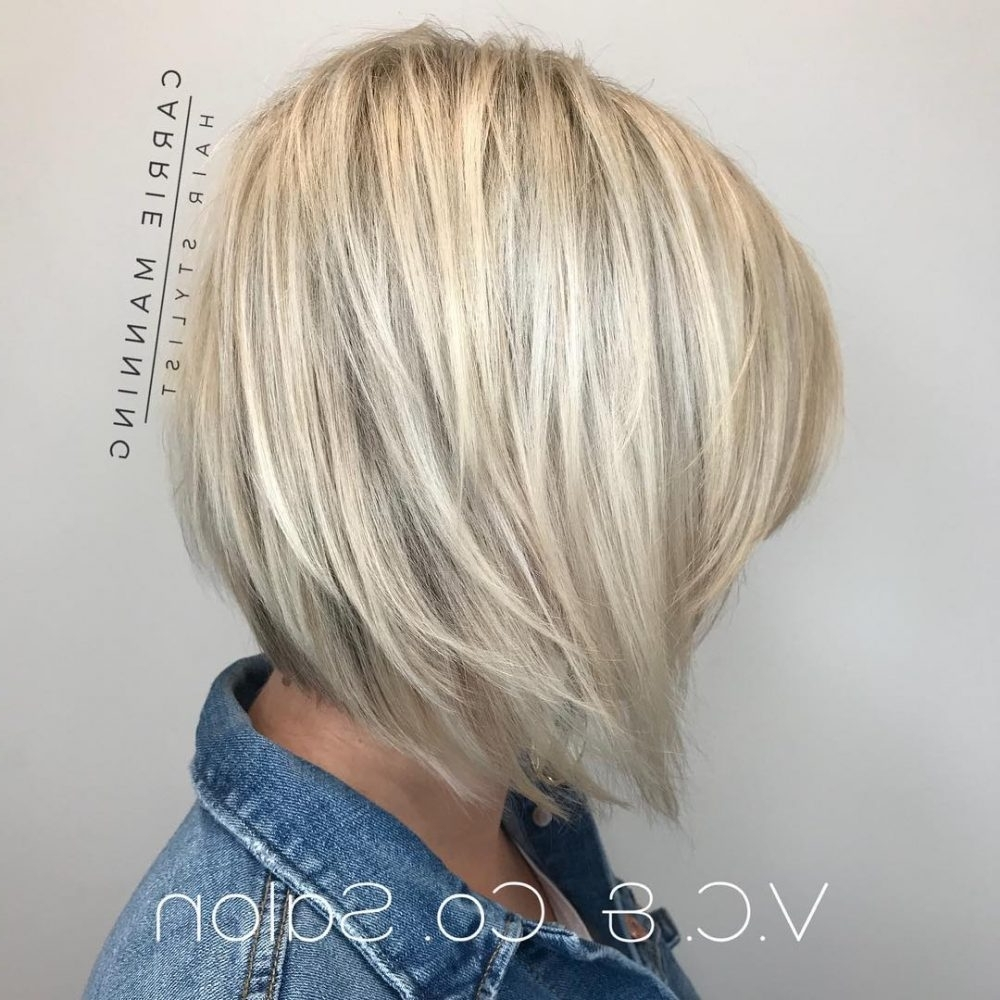 43 Perfect Short Hairstyles For Fine Hair In 2018 With Newest Textured Platinum Blonde Bob Hairstyles (View 3 of 20)