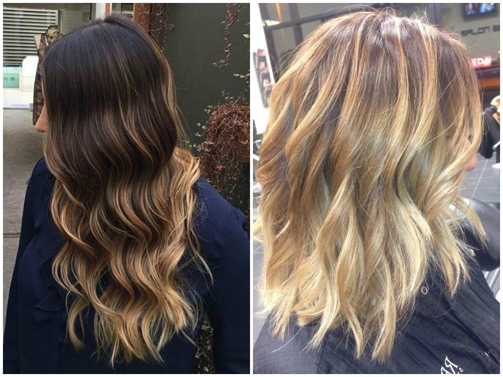 45 Trendy Blonde Balayage And Ombre Highlights On Brown Hair 2017 With Best And Newest Contrasting Highlights Blonde Hairstyles (View 4 of 20)