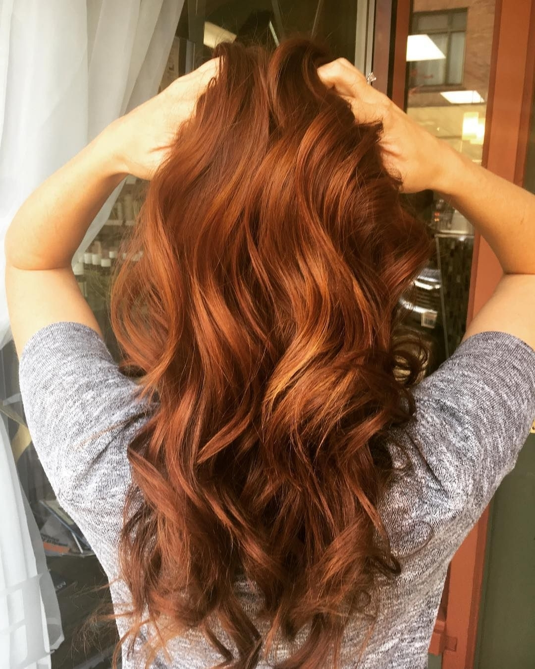 48 Copper Hair Color For Auburn Ombre Brown Amber Balayage And Pertaining To Best And Newest Amber Waves Blonde Hairstyles (View 9 of 20)