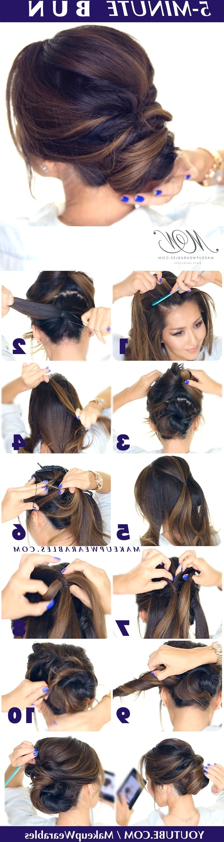 5 Minute Romantic Updo Tutorial (View 4 of 20)