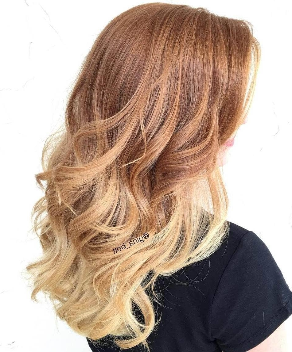 50 Of The Most Trendy Strawberry Blonde Hair Colors For 2018 For Most Popular Root Fade Into Blonde Hairstyles (View 2 of 20)