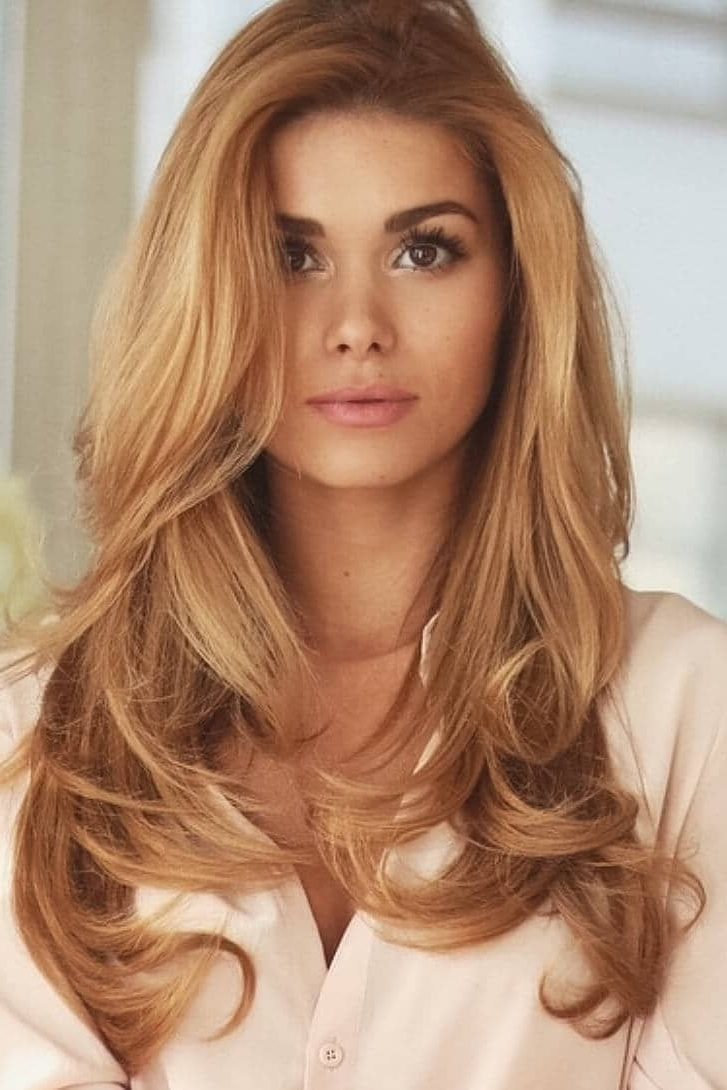 50 Of The Most Trendy Strawberry Blonde Hair Colors For 2018 Inside Newest Golden Bronze Blonde Hairstyles (View 7 of 20)