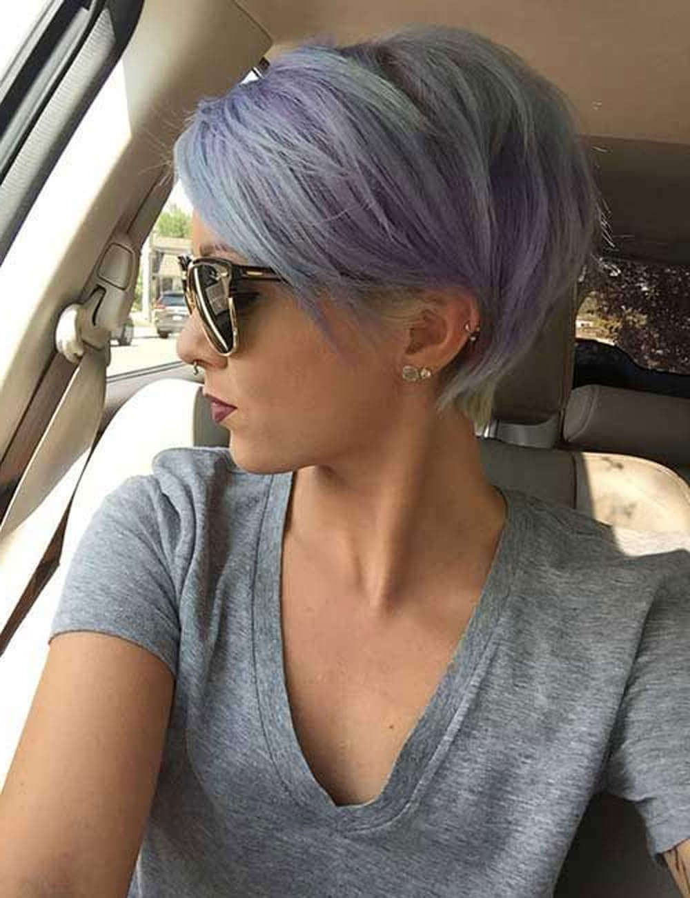50 Pixie Haircuts You'll See Trending In 2018 In Well Known Funky Blue Pixie Hairstyles With Layered Bangs (View 5 of 20)