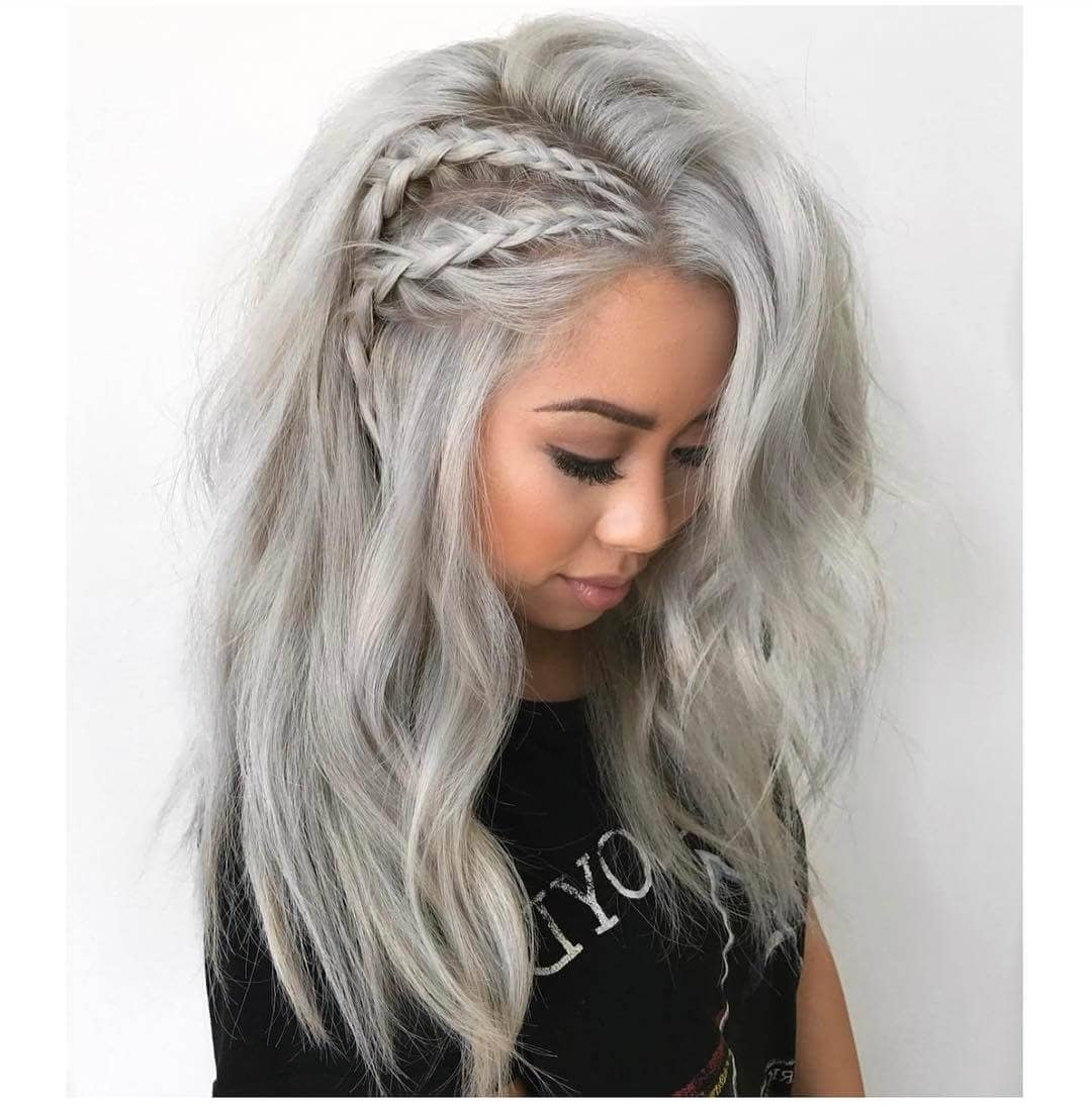 50 Unforgettable Ash Blonde Hairstyles To Inspire You With Fashionable Silver Blonde Straight Hairstyles (View 15 of 20)
