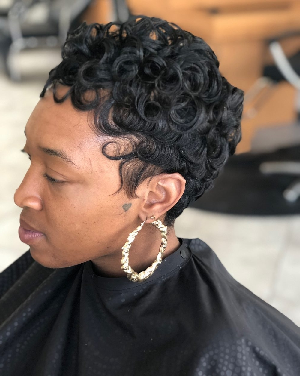 56 Popular Short Hairstyles For Black Women In 2018 With Regard To Newest Long Honey Blonde And Black Pixie Hairstyles (View 13 of 20)