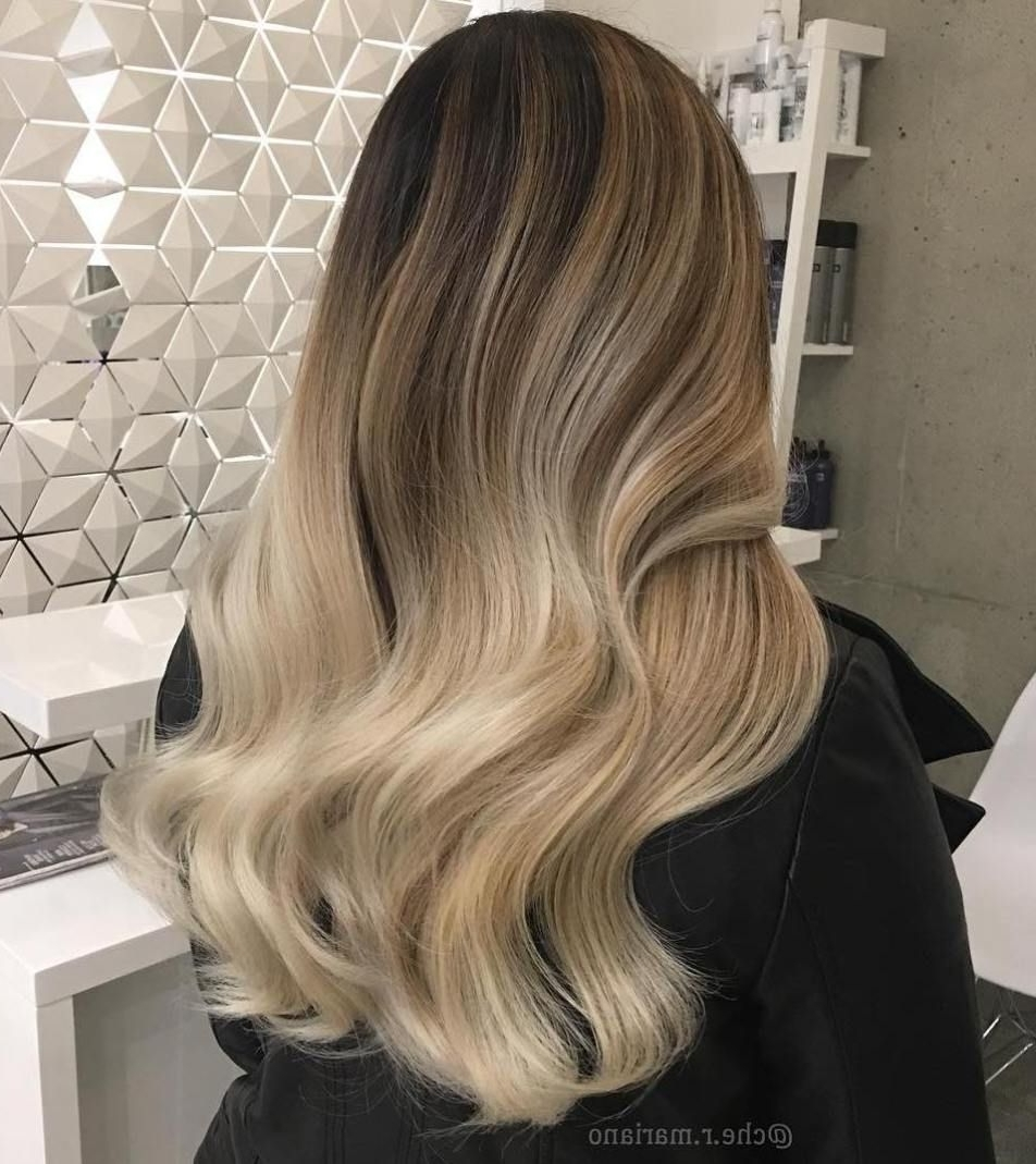 60 Best Ombre Hair Color Ideas For Blond, Brown, Red And Black Hair With Regard To Most Recent Creamy Blonde Waves With Bangs (View 2 of 20)