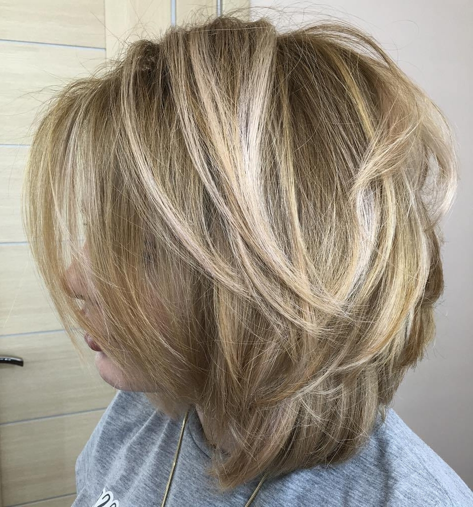 60 Fun And Flattering Medium Hairstyles For Women Of All Ages With Well Liked Fresh And Flirty Layered Blonde Hairstyles (View 6 of 20)