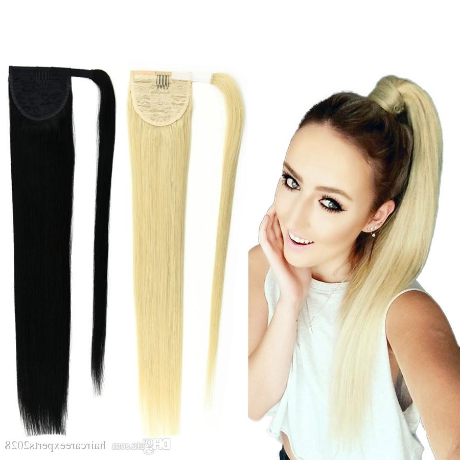 8A Ponytail Human Hair 120G Blonde 613 60 22Brazilian Virgin Human Regarding Widely Used Lustrous Blonde Updo Ponytail Hairstyles (View 5 of 20)