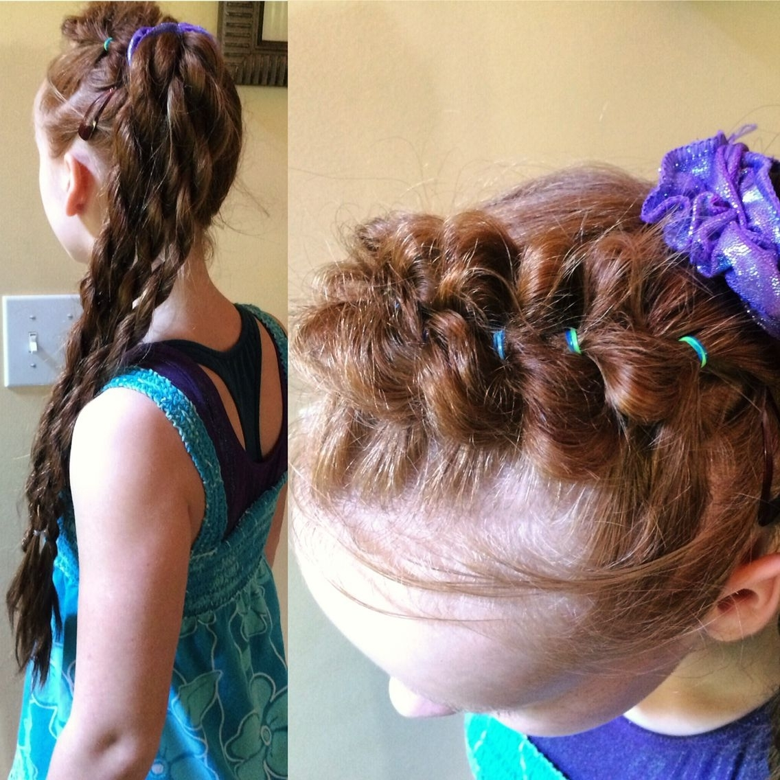 A Cute Pull Through Braided Headband Into A Side Pony With 4 Rope Within Latest Braided Headband And Twisted Side Pony Hairstyles (View 1 of 20)
