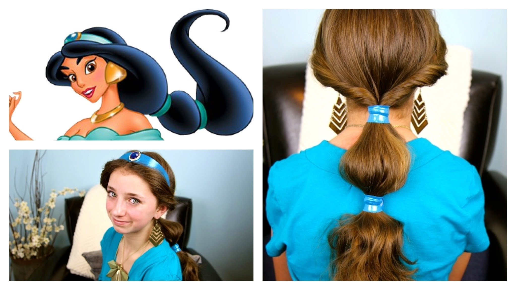 A Cutegirlshairstyles Disney Exclusive Pertaining To Most Recently Released Princess Tie Ponytail Hairstyles (View 5 of 20)