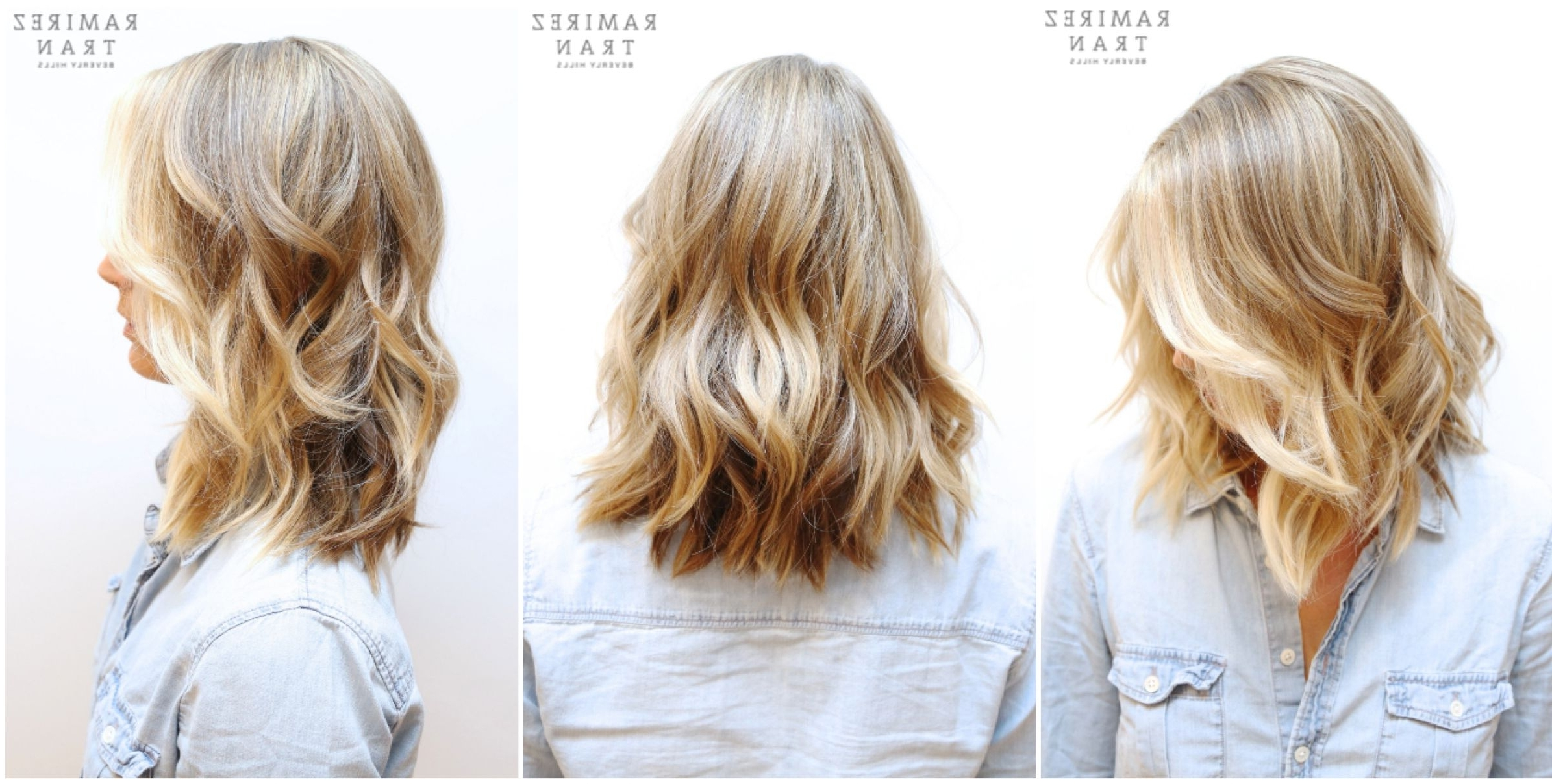 A Natural Looking Beige Blonde Base With Bright Buttery Blonde In Trendy Bright Long Bob Blonde Hairstyles (View 5 of 20)