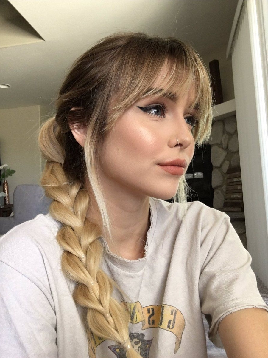 Acacia Brinley, Acacia With Newest Brunette Ponytail Hairstyles With Braided Bangs (Gallery 19 of 20)