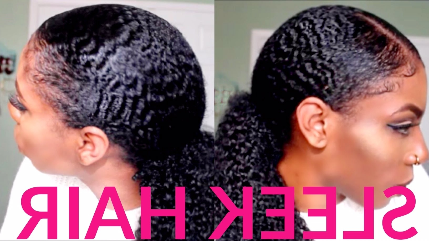 Amazing How To Wavy Curly Sleek Pony Tail With Baby Clip Ins Of Fake Inside Favorite Sleek Ponytail Hairstyles With Waves (View 3 of 20)