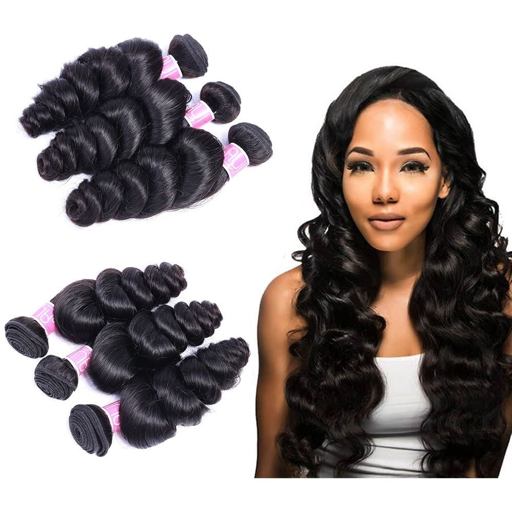 Annelbel Human Hair. Brazilian Hair Loose Wave Hair Weave 3 Bundles Regarding Most Recent Natural Color Waves Hairstyles (Gallery 3 of 20)