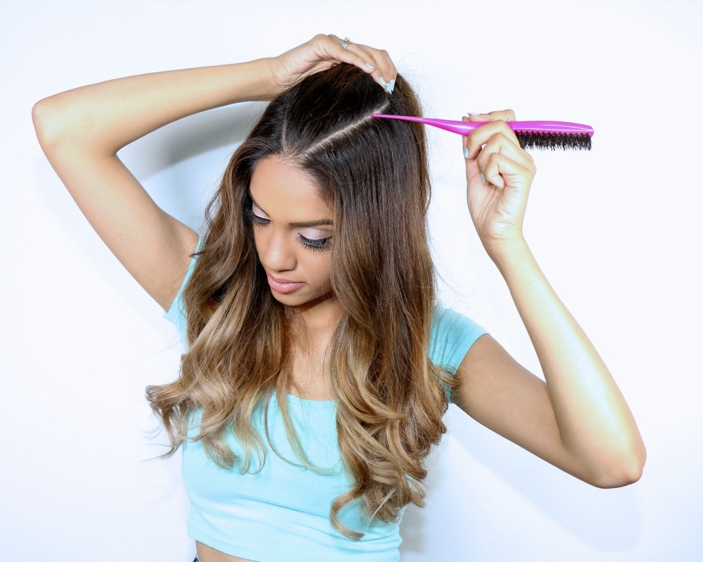 Ariana Grande Inspired Hair Tutorial: Half Up Ponytail With Regard To Best And Newest Half Up Curly Do Ponytail Hairstyles (Gallery 7 of 20)