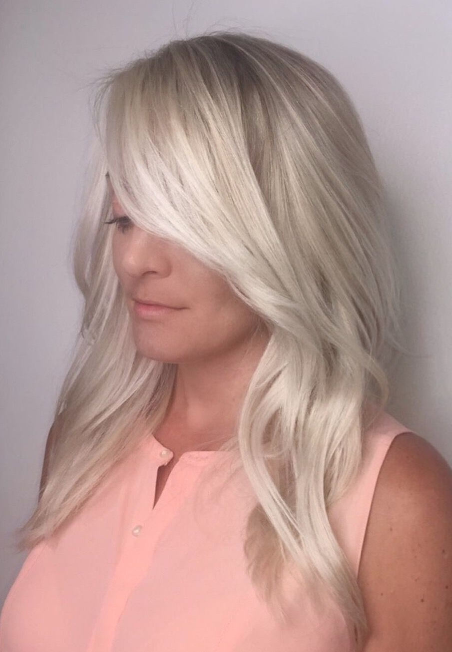 Ash Blonde. Ice Blonde. Balayage Highlights (View 2 of 20)