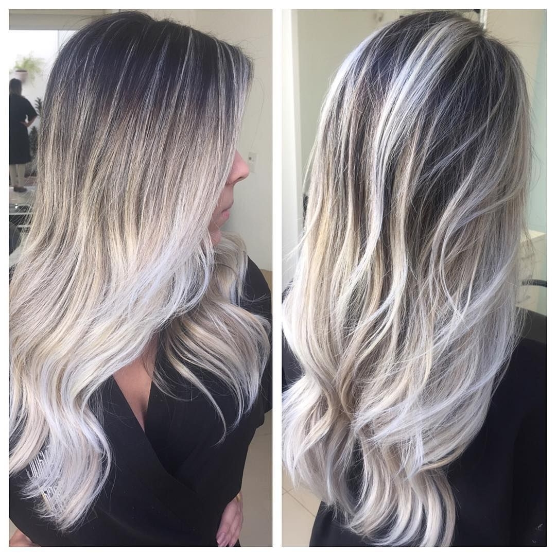 Ash Blonde In Most Up To Date Grayscale Ombre Blonde Hairstyles (View 5 of 20)