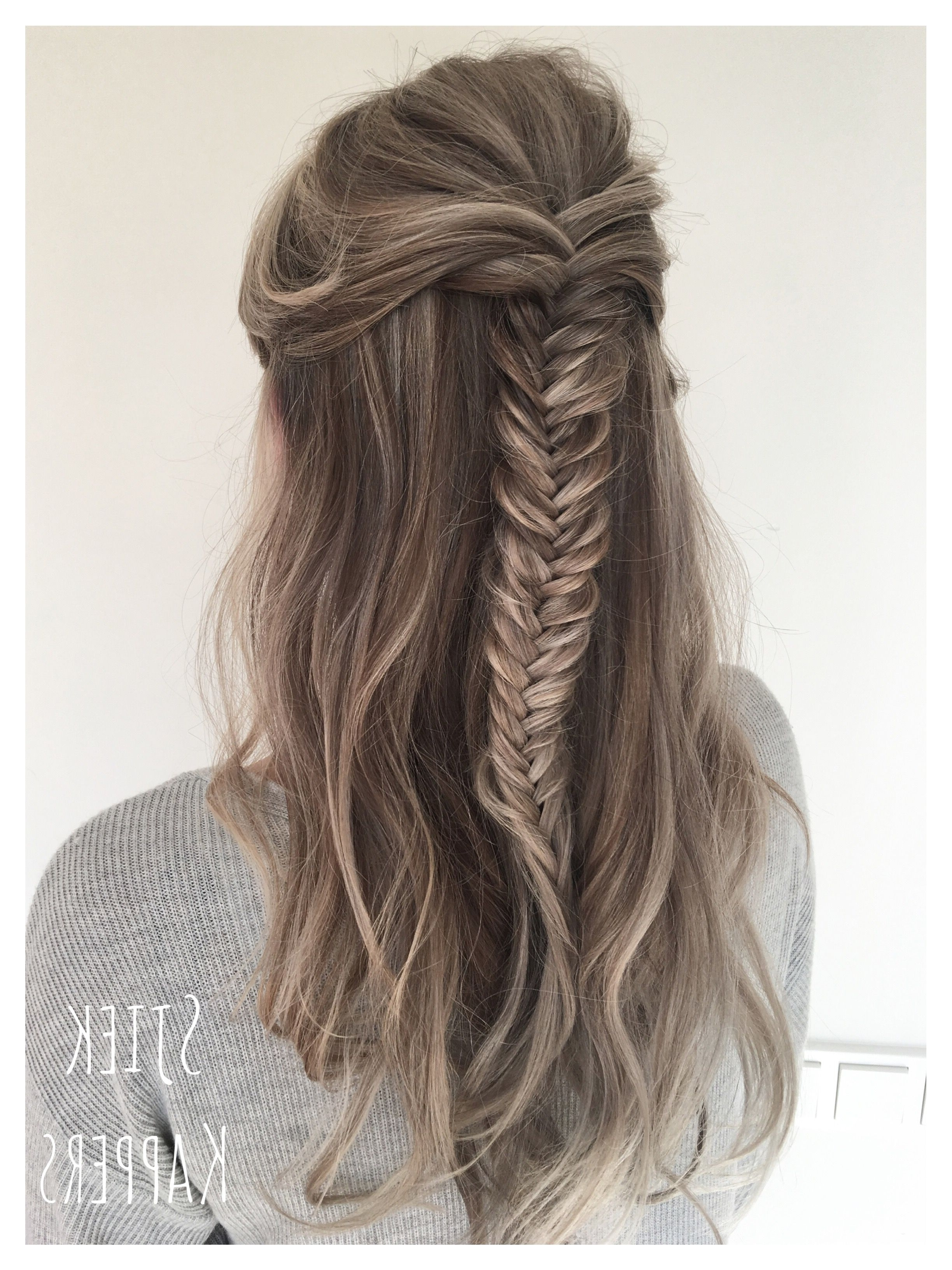 Ashy Blonde, Braid Hair And In 2017 Honey Blonde Fishtail Look Ponytail Hairstyles (View 3 of 20)
