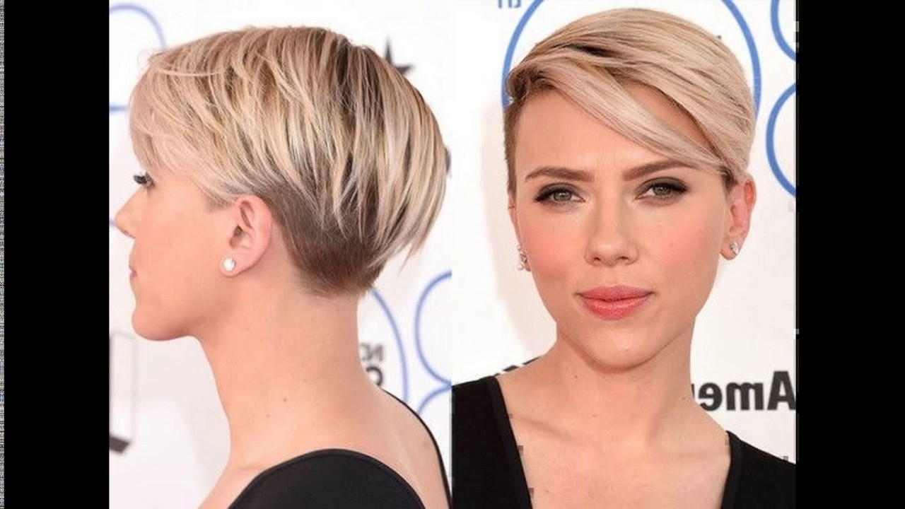 Asymmetric Short Haircut With A Temple Undercut – Youtube Inside 2018 Pixie Bob Hairstyles With Temple Undercut (View 10 of 20)
