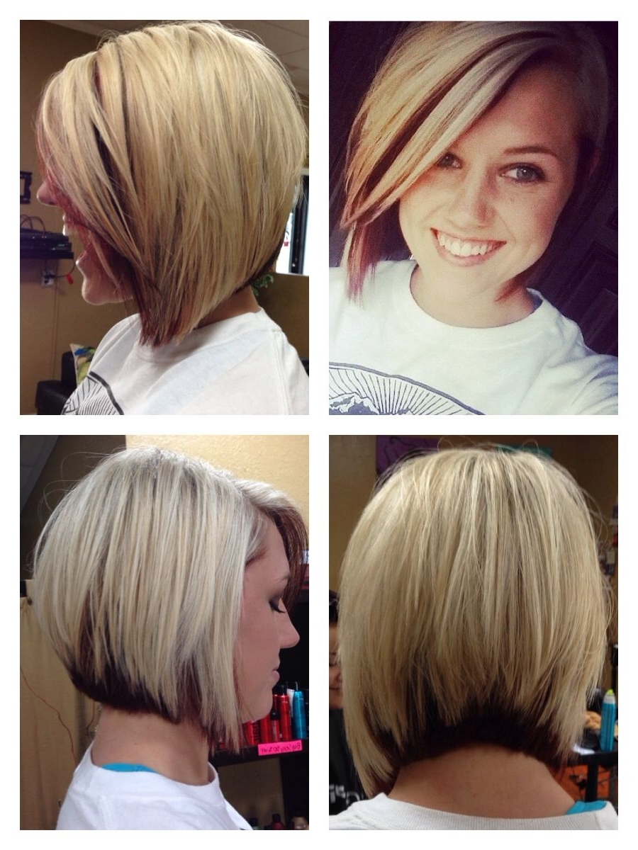 Asymmetrical Bob. Blonde With Red Peekaboo (View 7 of 20)