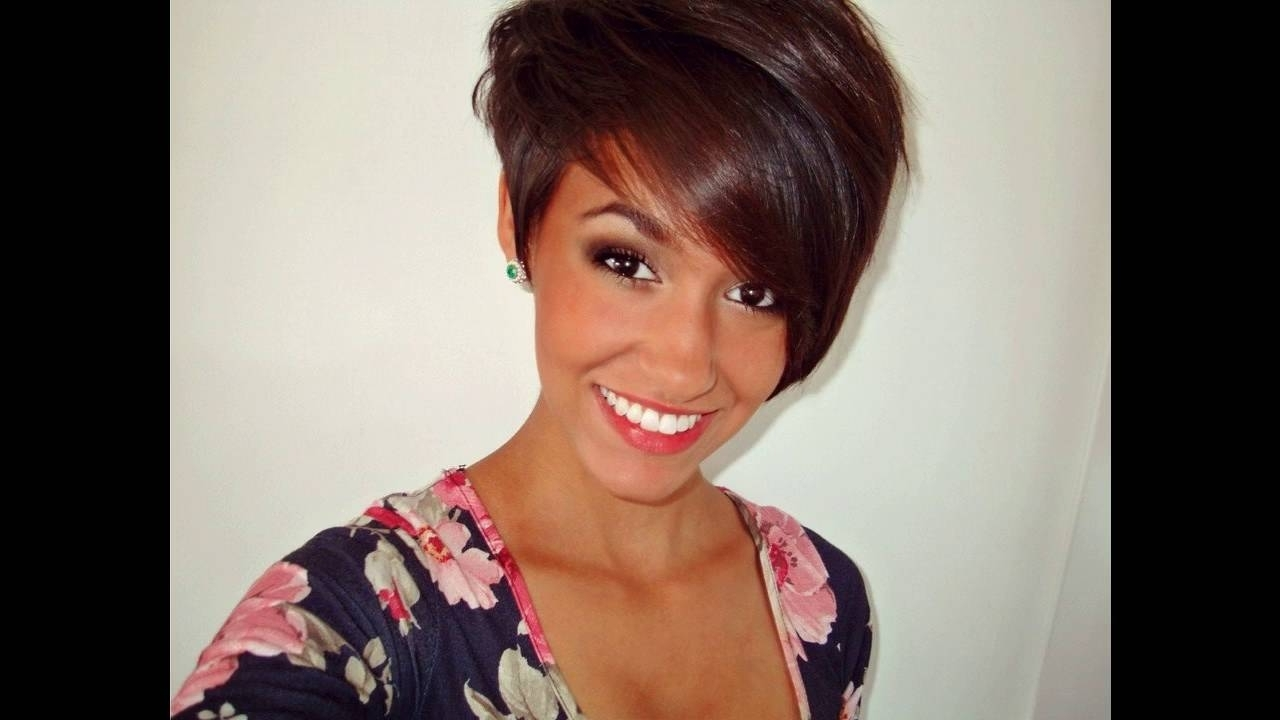 Asymmetrical Pixie Haircut Suits Best For Short Hair Round Face With Newest Asymmetrical Long Pixie Hairstyles For Round Faces (View 5 of 20)