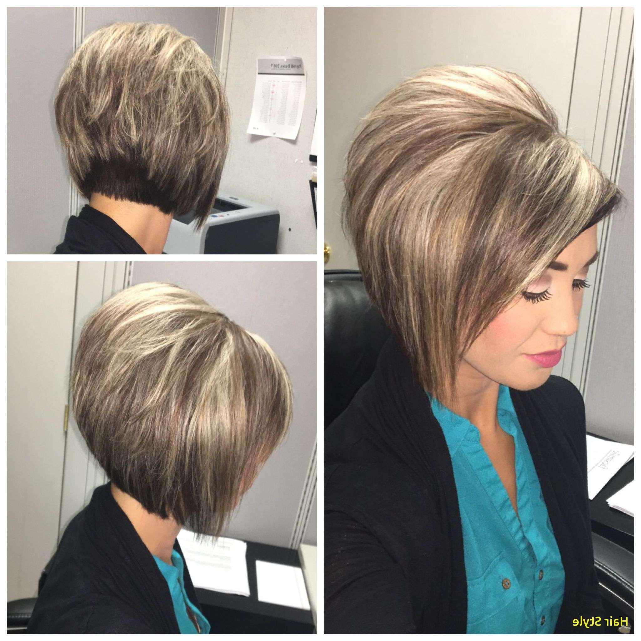 Awesome Angled Bob Hairstyles Lovely Stacked Bob Haircut With Blonde With Regard To Fashionable Stacked White Blonde Bob Hairstyles (Gallery 10 of 20)