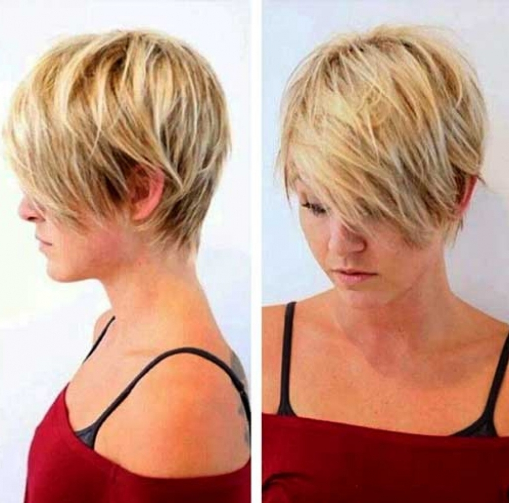 Awesome Hairstyles For Short Fine Thin Hair Gallery Styles Ideas In Inside Popular Sassy Pixie Hairstyles For Fine Hair (Gallery 3 of 20)