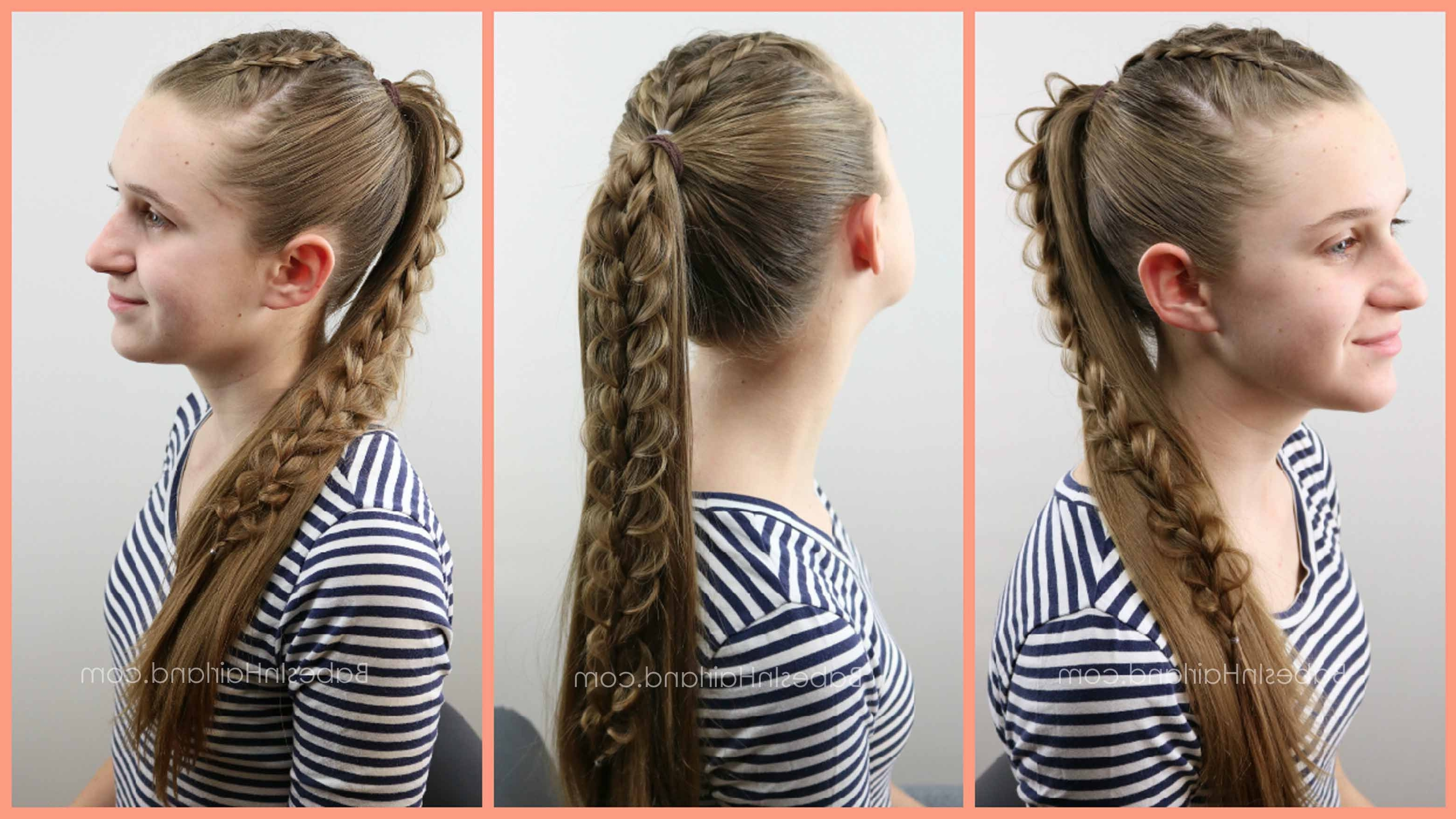 Babesinhairland For Famous Ponytail Hairstyles With A Braided Element (View 7 of 20)