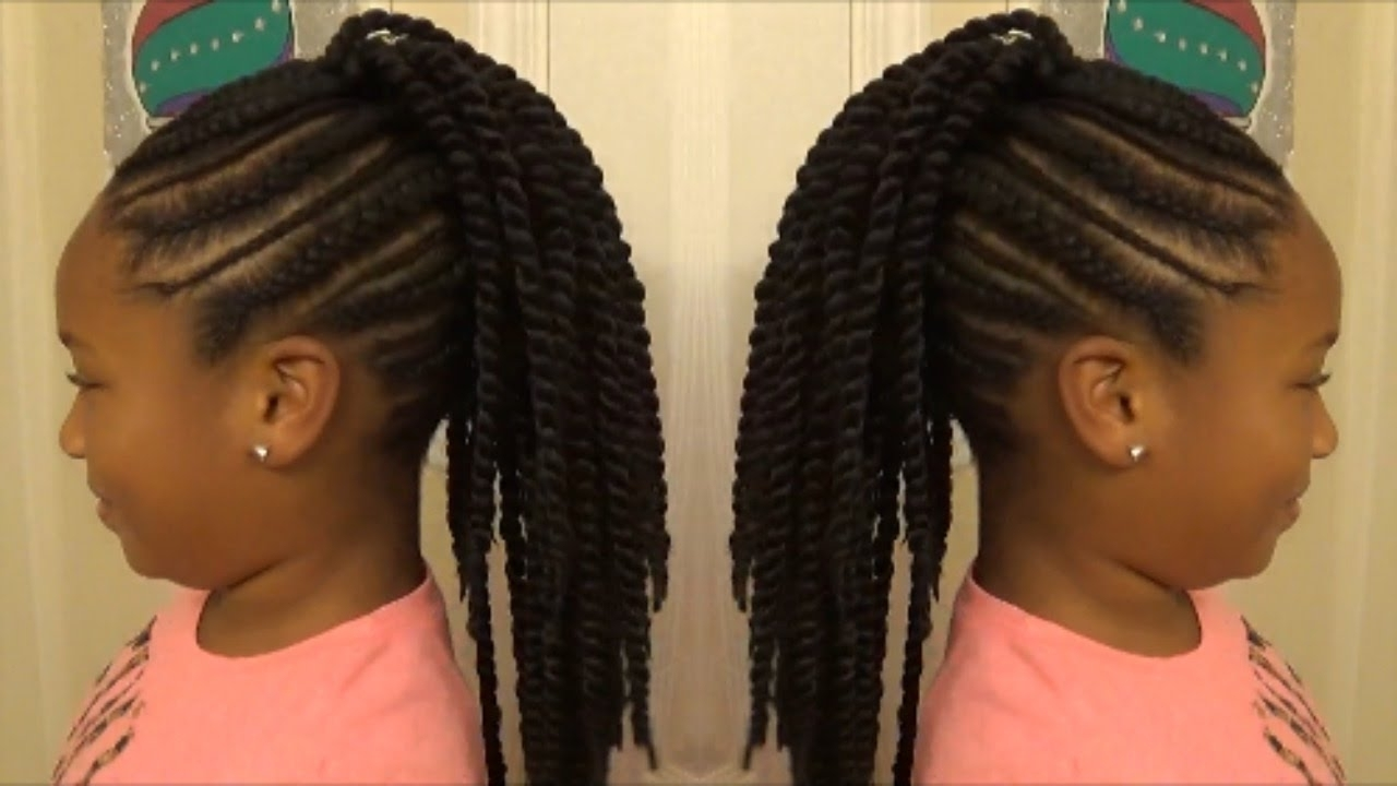 "Back To School 2017 ""slim Thick"" Braid Senegalese Twist Mohawk For Within Well Liked Cornrows And Senegalese Twists Ponytail Hairstyles (View 6 of 20)"