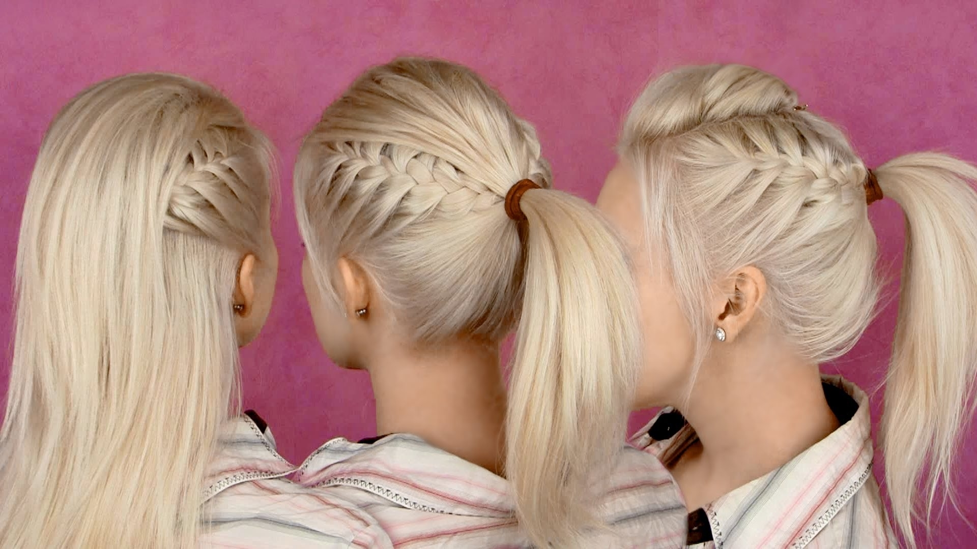 Back To School Hairstyles For Everyday: Braided Half Updo And Pertaining To Most Up To Date Perfectly Undone Half Braid Ponytail (View 20 of 20)