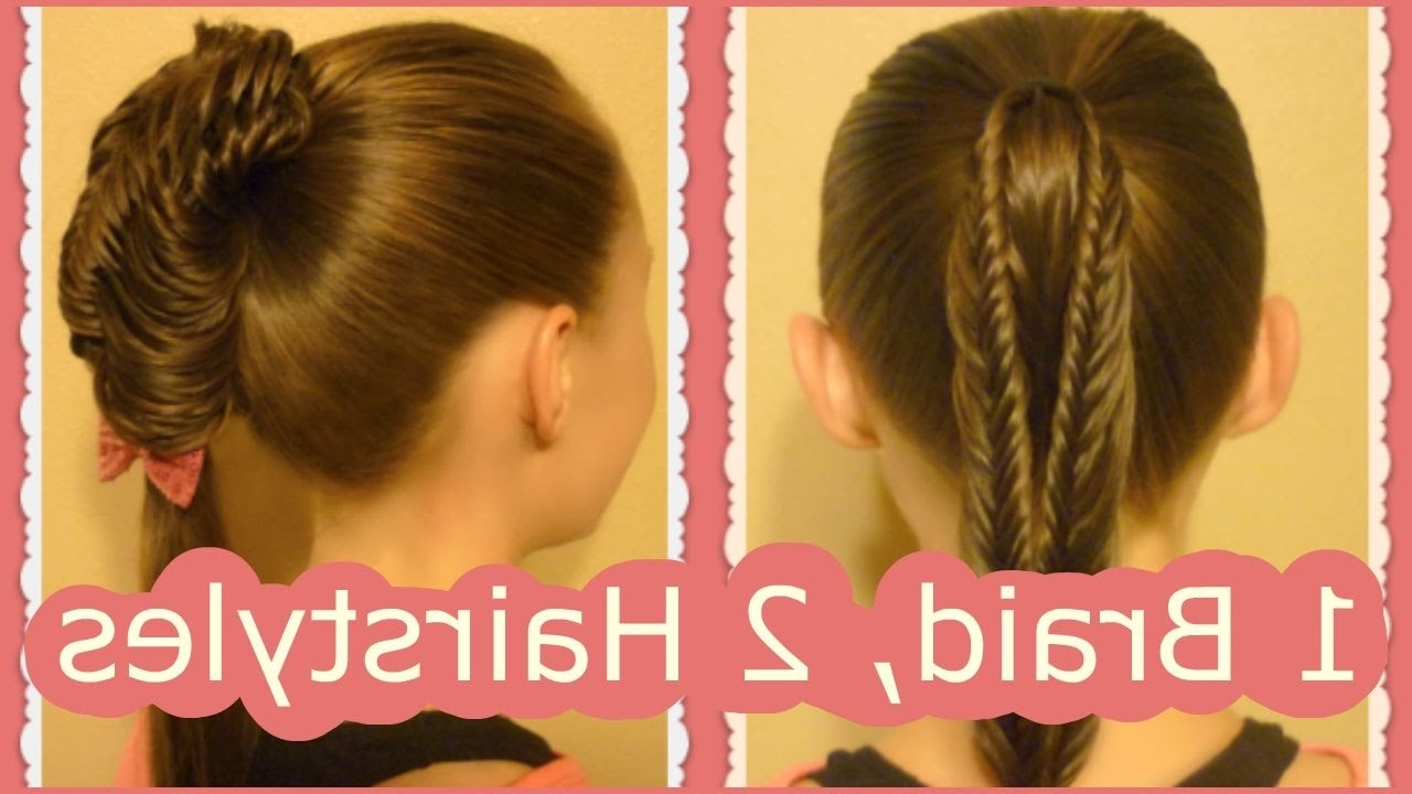 Back To School Hairstyles, Split Fishtail Braid Ponytails – Youtube Throughout Recent Princess Ponytail Hairstyles (View 7 of 20)