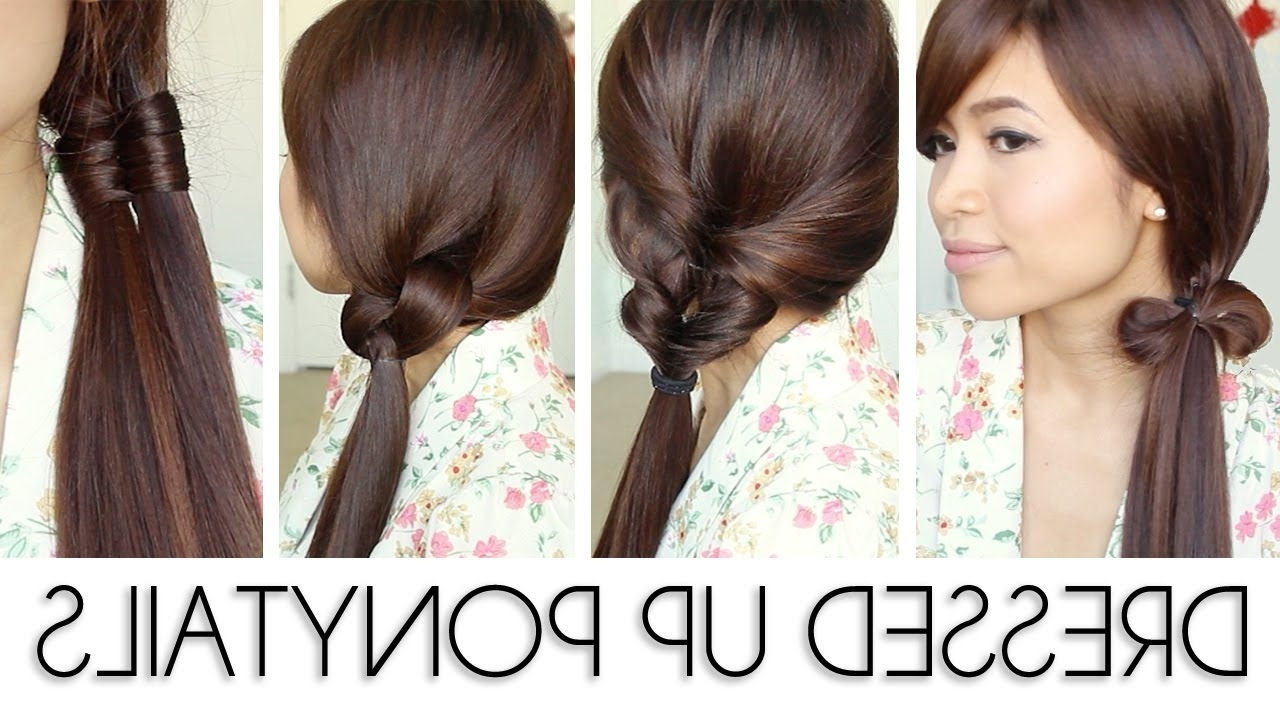 Back To School Ponytail Hairstyles For Medium Long Hair Tutorial With Most Up To Date Ponytail Hairstyles For Layered Hair (View 10 of 20)