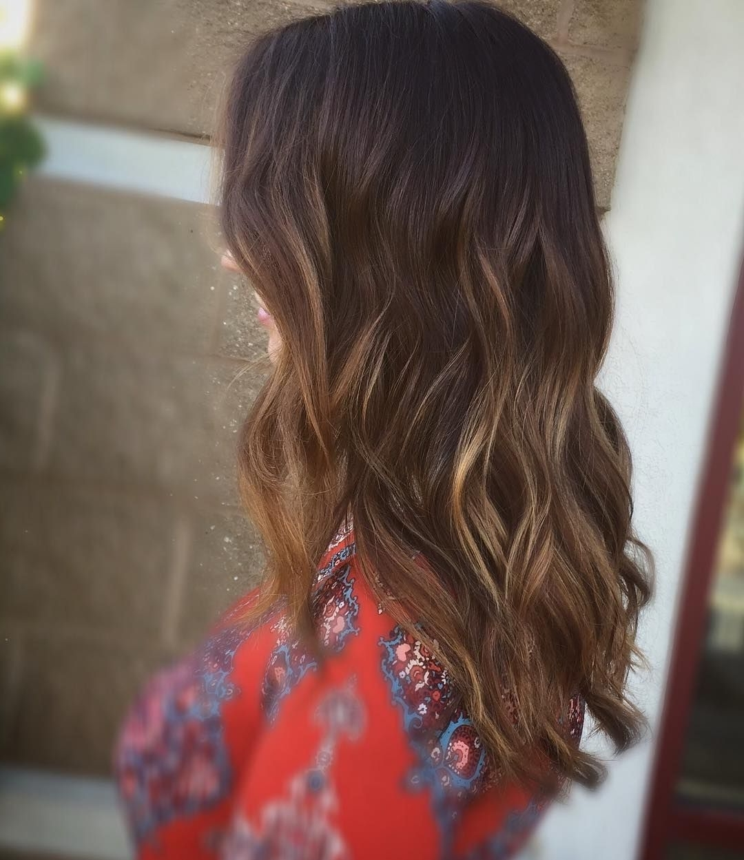 Balayage #brunette #ecaille #tortoise #shell #hair #color #long For Well Liked Tortoiseshell Curls Blonde Hairstyles (View 1 of 20)