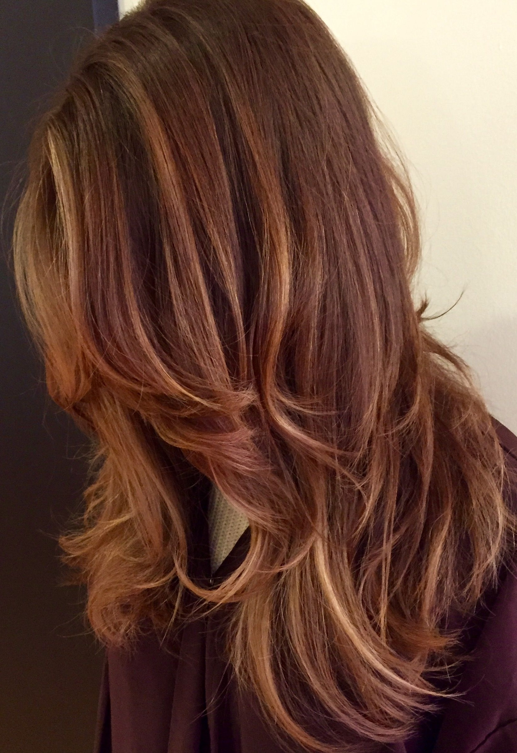 Balayage #caramel #copper #maple (View 7 of 20)