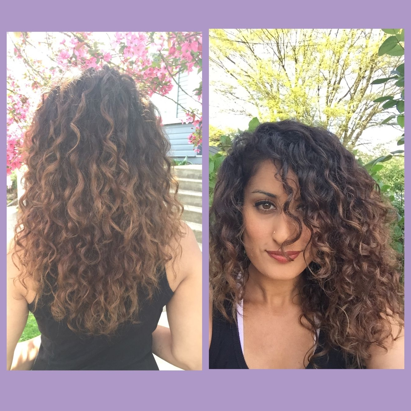 Balayage Hair Painting Naturally Curly Hair Dark Brown To Dark Within Favorite Brown To Blonde Ombre Curls Hairstyles (View 4 of 20)
