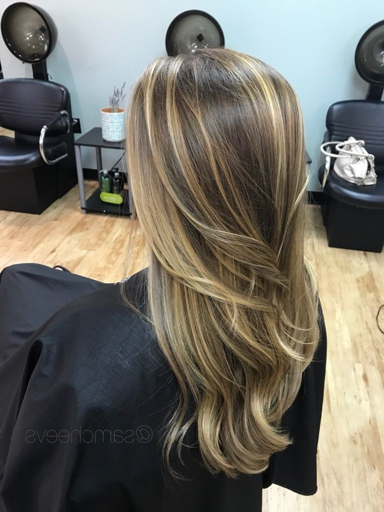 Balayage Ombré Highlights For Light Brown, Brunettes And Dirty Within Most Recently Released Brunette Hairstyles With Dirty Blonde Ends (View 2 of 20)
