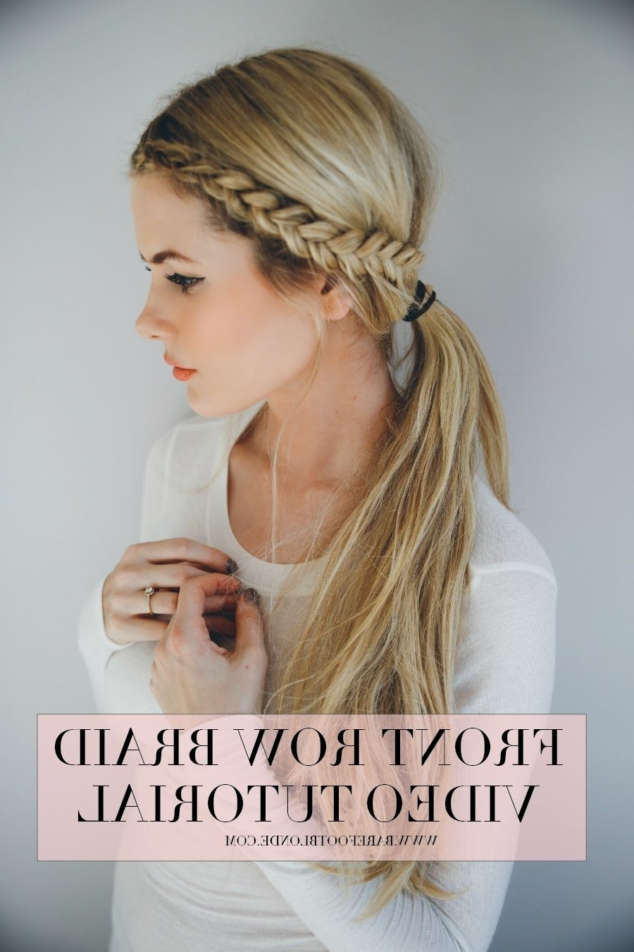 Barefoot Blonde, Braid Tutorials And Throughout 2018 Long Pony Hairstyles With A Side Braid (View 18 of 20)
